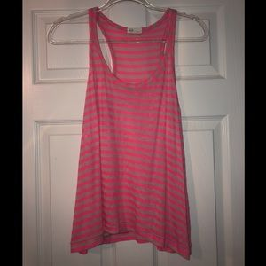 AG Adriano Goldschmied pink and tan striped tank